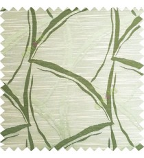 Green beige color long leaf design texture finished surface horizontal coloured lines polyester main curtain fabric