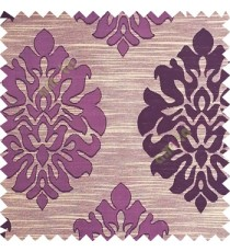 Purple color beautiful traditional damask design texture finished background horizontal lines polyester main curtain fabric