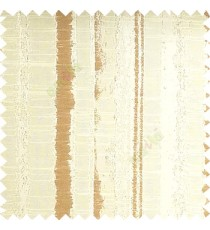 Beige and brown color vertical texture lines horizontal coloured stripes polyester main curtain fabric