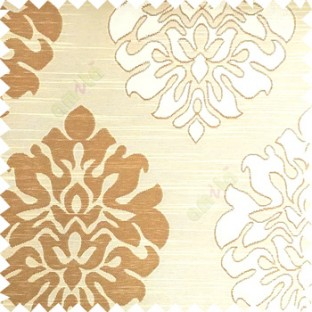 Beige and brown color beautiful traditional damask design texture finished background horizontal lines polyester main curtain fabric