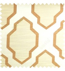Beige and brown color traditional pattern horizontal lines ogee design polyester main curtain fabric