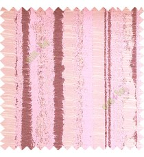 Baby pink color vertical texture lines horizontal coloured stripes polyester main curtain fabric