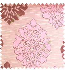 Baby pink color beautiful traditional damask design texture finished background horizontal lines polyester main curtain fabric