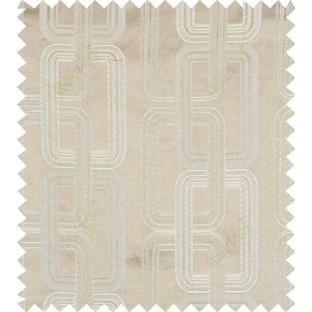 Brown beige color contemporary retro design polycotton main curtain designs
