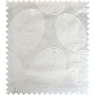 White cream color geometric design polycotton main curtain designs