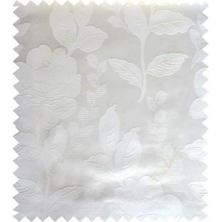 White cream color natural floral design polycotton main curtain designs