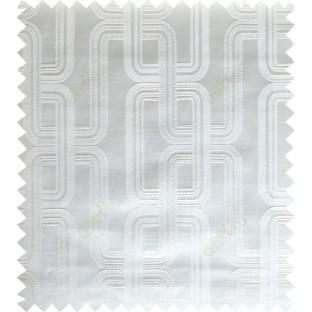 White cream color contemporary retro design polycotton main curtain designs