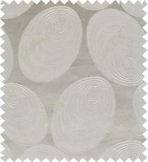 Grey beige color geometric design polycotton main curtain designs
