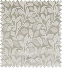 Grey beige color floral pattern polycotton main curtain designs
