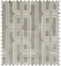 Grey beige color contemporary retro design polycotton main curtain designs