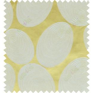 Yellow beige color geometric design polycotton main curtain designs