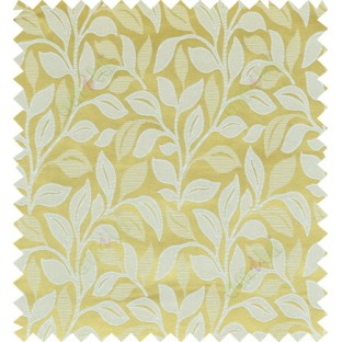 Yellow beige color floral pattern polycotton main curtain designs