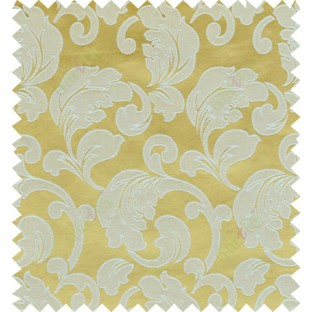 Yellow beige color traditional design polycotton main curtain designs