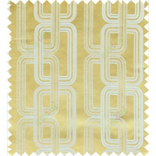 Yellow beige color contemporary retro design polycotton main curtain designs