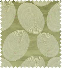 Green beige color geometric design polycotton main curtain designs