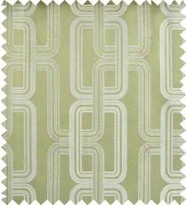 Green beige color contemporary retro design polycotton main curtain designs