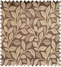 Beige brown color floral pattern polycotton main curtain designs