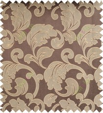 Beige brown color traditional design polycotton main curtain designs
