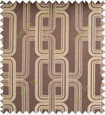 Beige brown color contemporary retro design polycotton main curtain designs