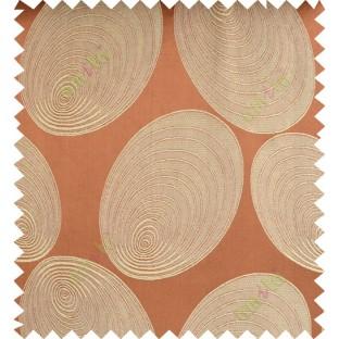 Orange beige color geometric design polycotton main curtain designs