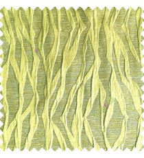 Greenish yellow color vertical folded vertical twist lines 3D embossed patterns horizontal texture lines polyester main curtain