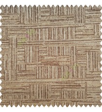 Brown beige grey color vertical and horizontal lines texture background fabric geometric patterns polyester main curtain