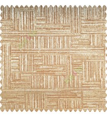 Copper brown grey color vertical and horizontal lines texture background fabric geometric patterns polyester main curtain