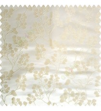 Beige cream color floral designs beautiful embroidery complete floral twigs pattern polyester base fabric with thick main curtain