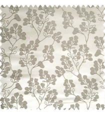 Grey color floral designs beautiful embroidery complete floral twigs pattern polyester base fabric with thick main curtain
