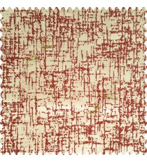 Maroon brown color vertical embossed lines water flowing drops embroidery patterns on thick polyester base fabric main curtain