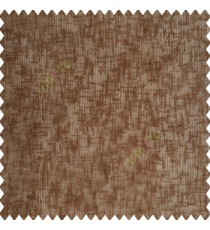 Copper brown color complete texture finished polyester transparent base net fabric sheer curtain