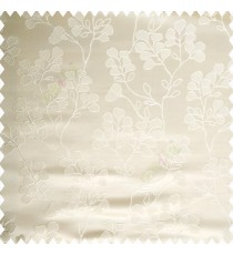 Beige gold color floral designs beautiful embroidery complete floral twigs pattern polyester base fabric with thick main curtain