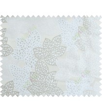 White beige color fresh leafy design with thick fab background polycotton main curtain designs