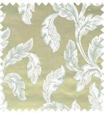 Green beige blue color seamless leaf pattern with thick fab polycotton main curtain designs