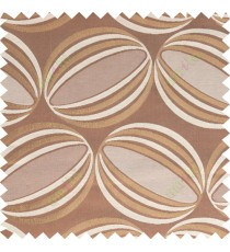 Gold rust beige color watermelon shadow pattern with thick fab polycotton main curtain designs