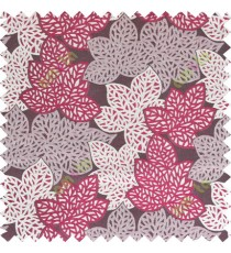 Maroon beige color fresh leafy design with thick fab background polycotton main curtain designs