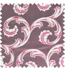 Maroon beige color ornament pattern with thick fab polycotton main curtain designs