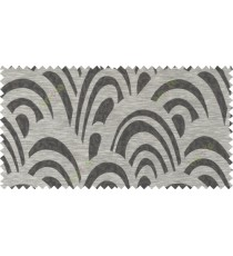 Black brown grey beige colour beautiful abstract pattern polycotton main curtain designs   113338