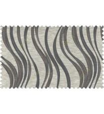 Black brown grey color vertical trendy lines polycotton main curtain designs   113340