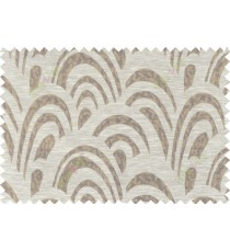Brown beige gold colour beautiful abstract pattern polycotton main curtain designs   113343