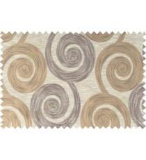 Brown beige gold color orbit pattern polycotton main curtain designs   113347