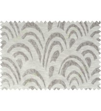 Grey brown beige colour beautiful abstract pattern polycotton main curtain designs   113348