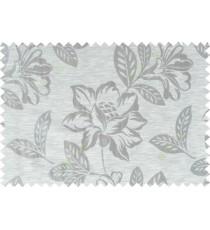 Grey brown beige color beautiful floral design polycotton main curtain designs   113349