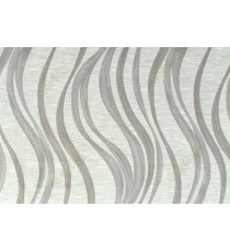 Grey brown beige color vertical trendy lines polycotton main curtain designs   113350