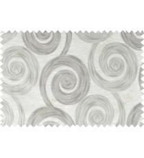 Grey brown beige color orbit pattern polycotton main curtain designs   113352