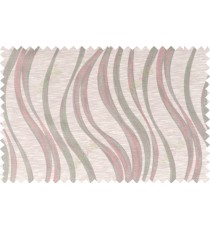 Pink beige grey color vertical trendy lines polycotton main curtain designs   113360