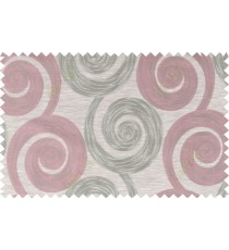 Pink beige grey color orbit pattern polycotton main curtain designs   113362