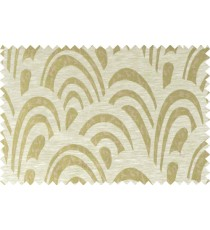 Green beige brown colour beautiful abstract pattern polycotton main curtain designs   113363