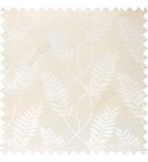Beige color combination traditional floral long leaf pattern with texture background vertical flowing designs polycotton main curtain
