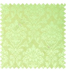 Green brown color combination traditional design big damask pattern smooth and shiny finished designs textured background polycotton main curtain